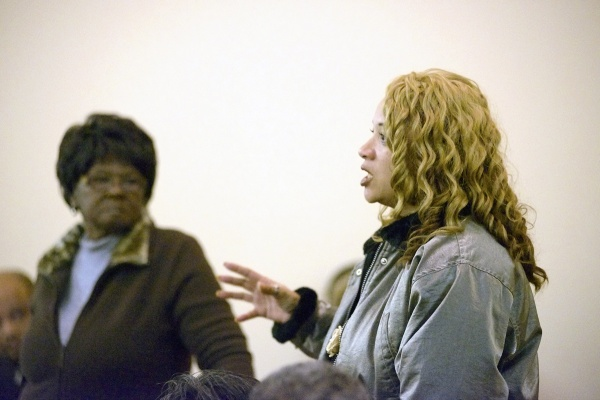 <p><p>Lisa Hopkins, community activist and block captain, is concerned about crime in the area near the yet-to-be-demolished Queen Lane Apartments. (Bas Slabbers/for NewsWorks)</p></p>