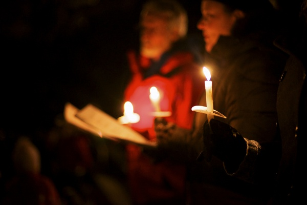<p><p>The evening continued at the East Falls Presbyterian Church for hot cider and cookies. (Bas Slabbers/for NewsWorks)</p></p>