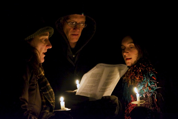<p><p>East Falls neighbors came out to McMichael Park for the traditional holiday event. (Bas Slabbers/for NewsWorks)</p></p>