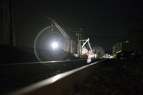 <p>&lt;p&gt;Work lights falls on the train track leading towards the derailment site. (Bas Slabbers/for NewsWorks)&lt;/p&gt;</p>