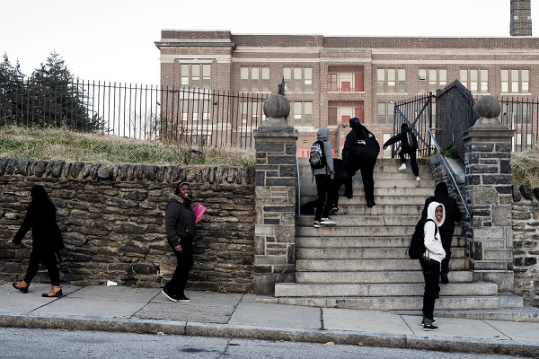 <p><p>Students arriving at Roosevelt Elementary on Washington Lane the day it was announced that the school was among 37 that could soon close. (Bas Slabbers/for NewsWorks)</p></p>