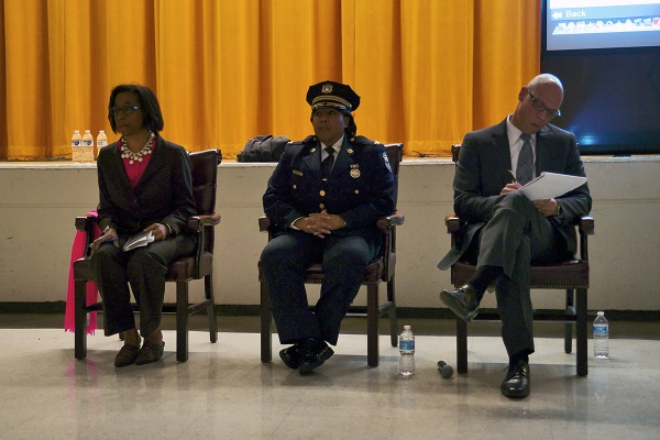 <p><p>Philly Schools Superintendent Dr. William Hite came to MLK for a citywide information meetings about the district's school closure recommendations. (Bas Slabbers/for NewsWorks)</p></p>