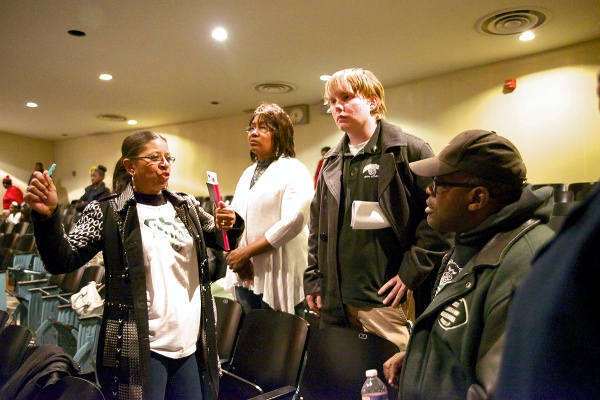 <p>The Germantown High School delegation. (Bas Slabbers/for NewsWorks)</p>
