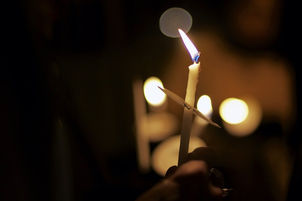 <p><p>On Thursday, about thirty people attended a vigil held in remembrance for the victims of the Sandy Hook Elementary shooting. The vigil was held at the gate of Germantown High School and was organized by two nearby churches. (Bas Slabbers/for NewsWorks)</p></p>