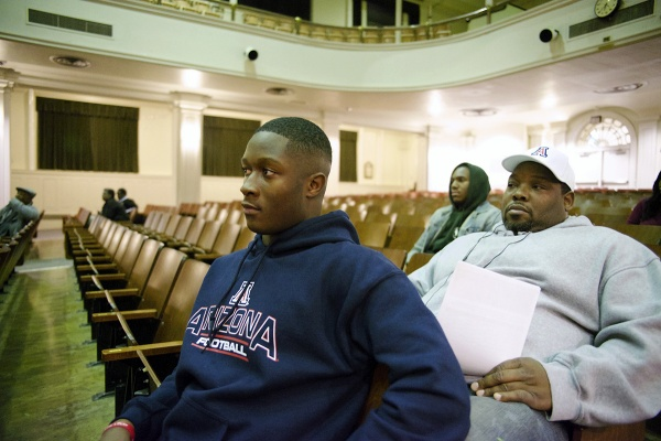 <p>&lt;p&gt;Will Parks (Class of '11) was one of the younger alumni at the meeting. (Bas Slabbers/for NewsWorks)&lt;/p&gt;</p>