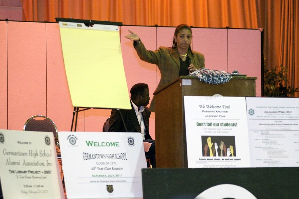 """<p><p>Vera Primus, president of Germantown High School's alumni association, saysthe school district needs to hear """"our united voice saying, 'it's not going to happen on our watch.'"""" (Bas Slabbers/for NewsWorks)</p></p>"""