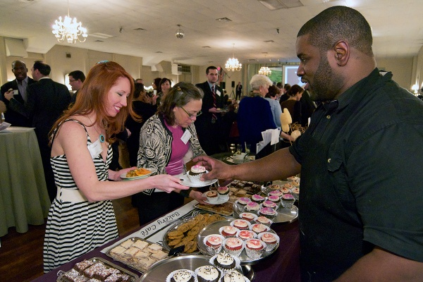 <p>Jimmy Reed of Little Jimmie's Bakery Café  serves a variety of cupcakes and other baked goods. (Bas Slabbers/for NewsWorks)