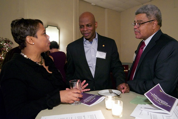 <p><p>Eighth District City Councilwoman Cindy Bass, state Rep. Stephen Kinsey and Ron Couser. (Bas Slabbers/for NewsWorks)</p></p>
