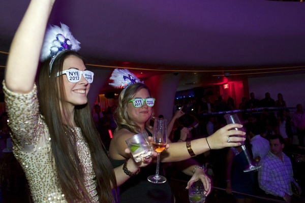 <p>Revelers welcome the new year at the venues in Atlantic City. (Bas Slabbers/for NewsWorks)</p>