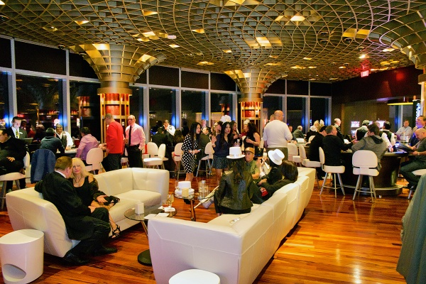 <p>Revelers are seen celebrating the new year at the Ultra Lounge area at the Revel Resort and Casino. (Bas Slabbers/for NewsWorks, file)</p>