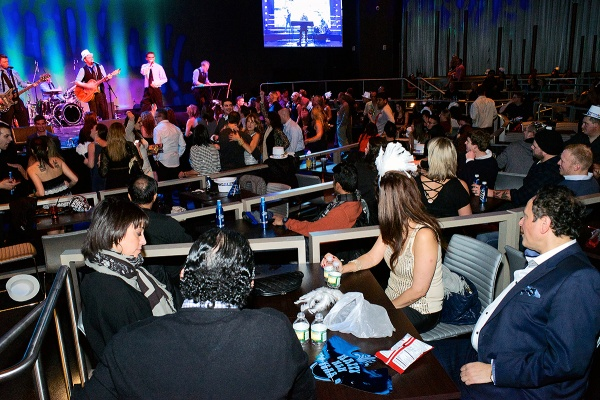 <p>Patrons dance on the music of 'Front' at the Social, one of the entertainment venues of  Revel Nightlife. (Bas Slabbers/for NewsWorks, file)</p>