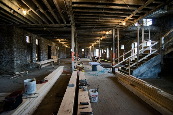 <p><p>The first floor in its current state. (Bas Slabbers/for NewsWorks)</p></p>