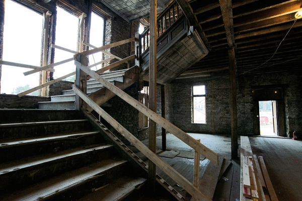 <p><p>A view of the main staircase on the first floor. (Bas Slabbers/for NewsWorks)</p></p>
