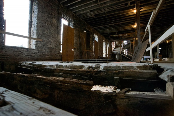 <p><p>Floor boards are missing in some parts. (Bas Slabbers/for NewsWorks)</p></p>