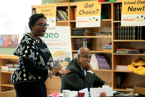 <p><p>Darlene Callands, BAEO's chapter president and CEO, said the event was intentionally planned for National Choice Month. (Bas Slabbers/for NewsWorks)</p></p>