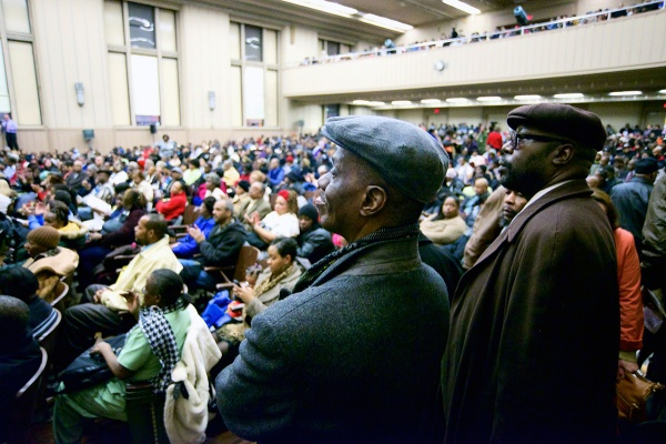 <p><p>Almost every seat in the high school auditorium was filled on Thursday night for the community meeting. (Bas Slabbers/for NewsWorks)</p></p>