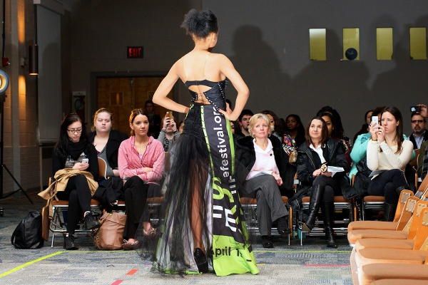 <p>&lt;p&gt;Akeema models a long dress with a black corset by Shanel Cambell. (Bas Slabbers/for NewsWorks)&lt;/p&gt;</p>
