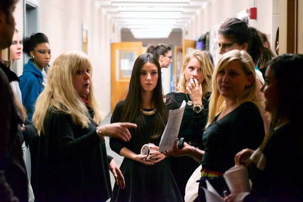 <p>&lt;p&gt;The design team goes over final preparations in the hallway before the show starts. (Bas Slabbers/for NewsWorks)&lt;/p&gt;</p>