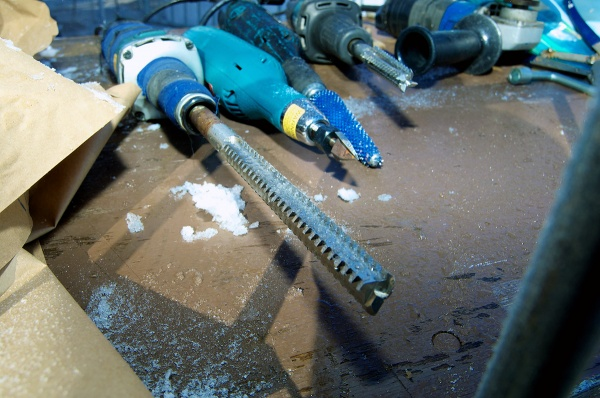 <p><p>Ice carving tools briefly at rest. (Bas Slabbers/for NewsWorks)</p></p>