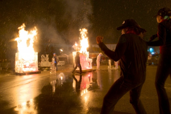 <p><p>Dancers from Merge Dance Studio danced around the bonfire. (Bas Slabbers/for NewsWorks)</p></p>