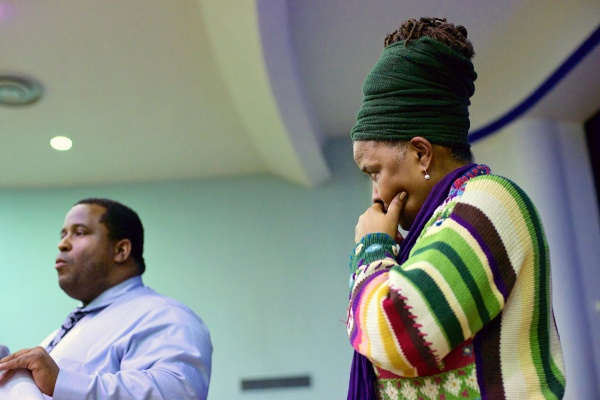 <p><p>Pictured: Shelah Harper of the Germantown Clergy Initiative and Leeds Principal Dontae Wilson. (Bas Slabbers/for NewsWorks)</p></p>