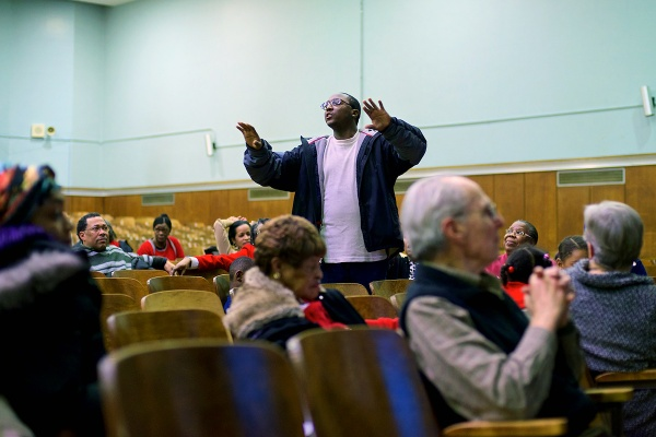 <p><p>Tension erupted between parents of different schools during the forum. (Bas Slabbers/for NewsWorks)</p></p>