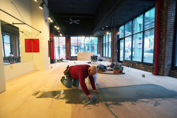 <p><p>The first floor space will be transformed into a fitness and training studio. (Bas Slabbers/for NewsWorks)</p></p>