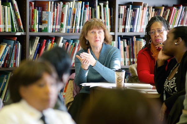 <p><p>Two proposals were presented at the Fulton Elementary meeting. (Bas Slabbers/for NewsWorks)</p></p>