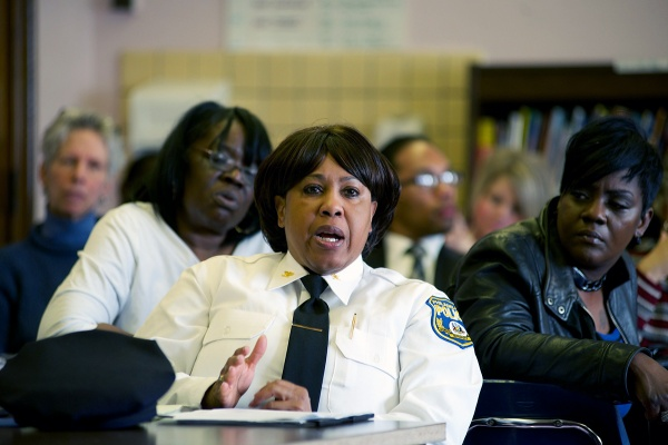 <p><p>Philadelphia Police Chief Inspector Cynthia Dorsey attended the session. (Bas Slabbers/for NewsWorks)</p></p>