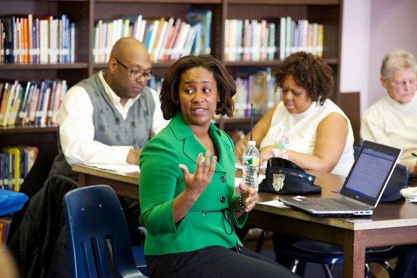 <p><p>Danielle Floyd is helming the school district's closure-and-consolidation plan. (Bas Slabbers/for NewsWorks)</p></p>