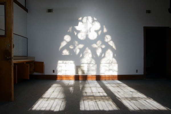 <p><p>The 5,100-square foot church is without several historic stained glass window panels, removed after a lengthy disagreement between the Episcopal Diocese of Philadelphia and the city's Historical Commission. (Bas Slabbers/for NewsWorks)</p></p>