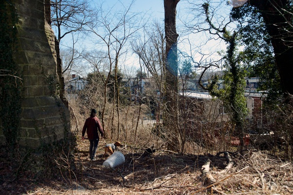 <p><p>A neighbor uses the property to walk his dog. (Bas Slabbers/for NewsWorks)</p></p>