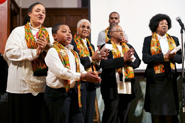 """<p><p>The First Presbyterian Church of Germantown gospel choir sings """"I Needed You To Survive"""" at Saturday's Be the Change event. (Bas Slabbers/for NewsWorks)</p></p>"""