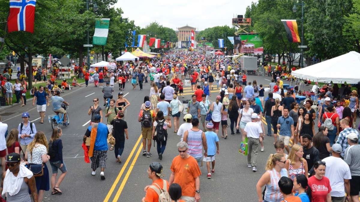 Thousands attend the Fourth of July festival on the Parkway.