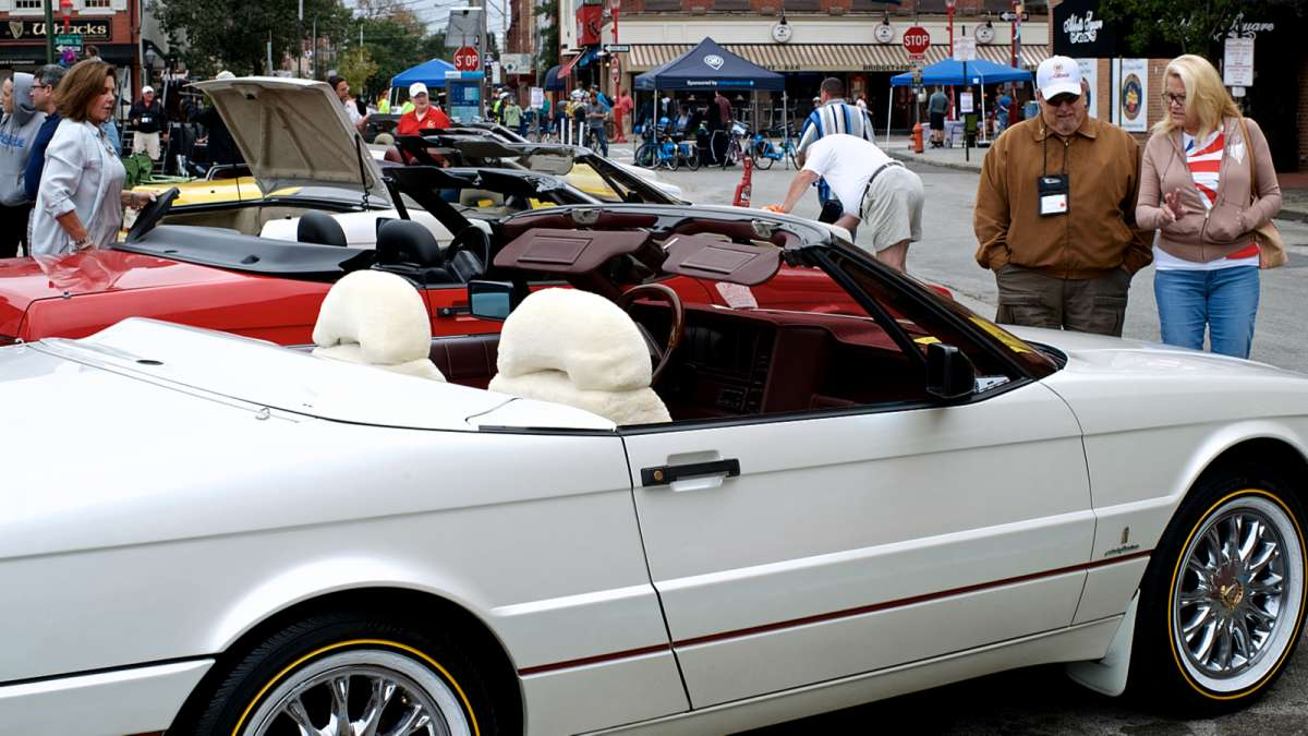 Philly Free Streets Day wasn't entirely car-free due to a get-together of a vintage car-owners club that set up a concours d'elegance on South Second Street.