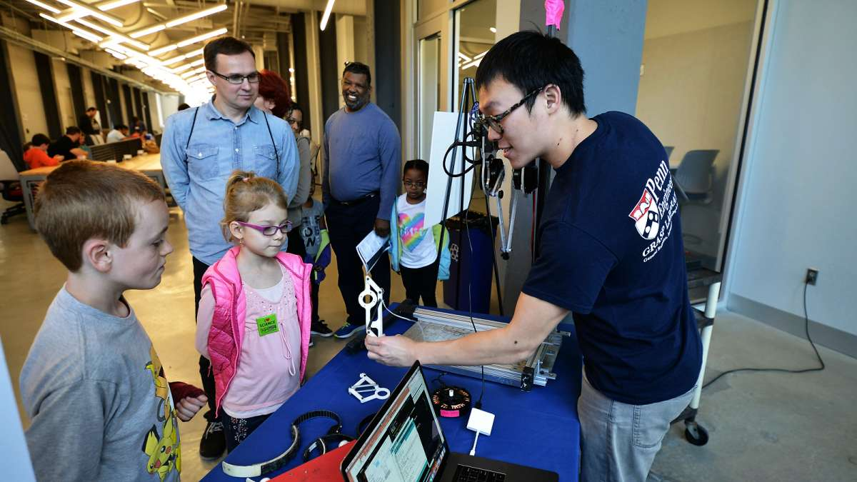 Aspiring scientists learn about the inner workings of robots, their functionality, and how to program them, at the Pennovation Center.