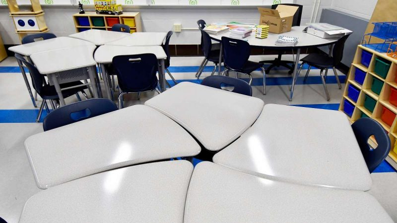 One of the modernized classrooms at Allen M. Stearne Elementary, in the Frankford neighborhood of the city, August 23, 2017. (Bastiaan Slabbers for WHYY)