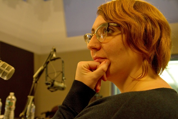 <p>Former WHYY employee Sarah Davis takes on the lead role of Nora Gallagher in this year's radio Christmas play.</p>