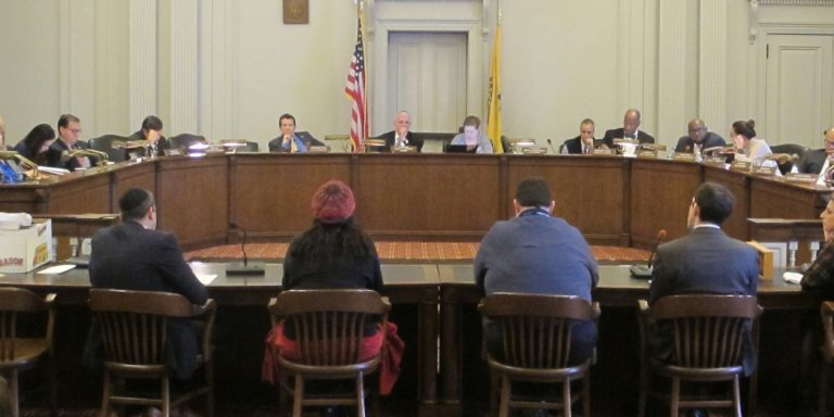 The New Jersey  Assembly Budget committee holds the first of several hearings on Gov. Chris Christie's proposed state budget Wednesday. (Phil Gregory/WHYY)