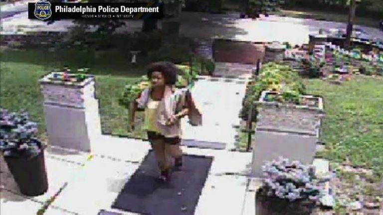 A surveillance shot of the alleged Germantown burglar. (Courtesy of Philadelphia Police)