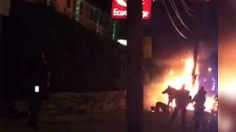 Screenshot of video taken by a witness of the incident in Jersey City, N.J.