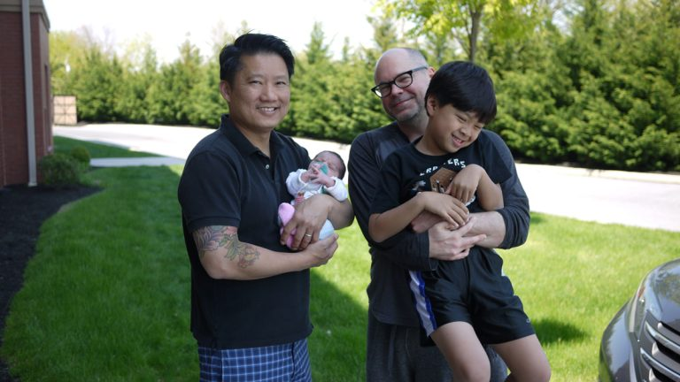 Kipp Jarecke-Cheng and his partner with their adopted children. Their daughter's birthmother later changed her mind and decided to parent the child after all. (Image courtesy of Kipp Jarecke-Cheng.)