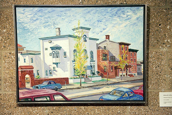 <p><p>William M. Hoffman, Reinboth-Hatch House, 1991, oil on board. The building is no longer standing. (Nat Hamilton/for NewsWorks)</p></p>