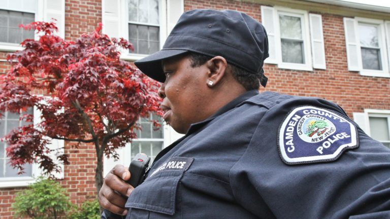Denise Bacchues has been a police officer in Camden for 16 years. (File photo, Kimberly Paynter/WHYY)
