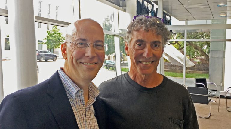 Michael Becker with WHYY's Dave Heller. (WHYY photo)