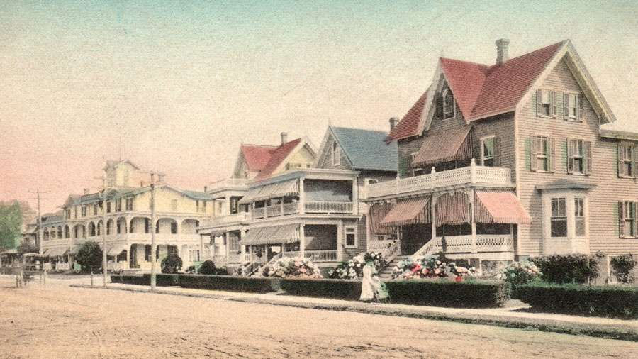In 1909, Howard Street's Victorian treasures, including the Chalfont Hotel, were captured on this postcard. (Richard Gibbs Collection)