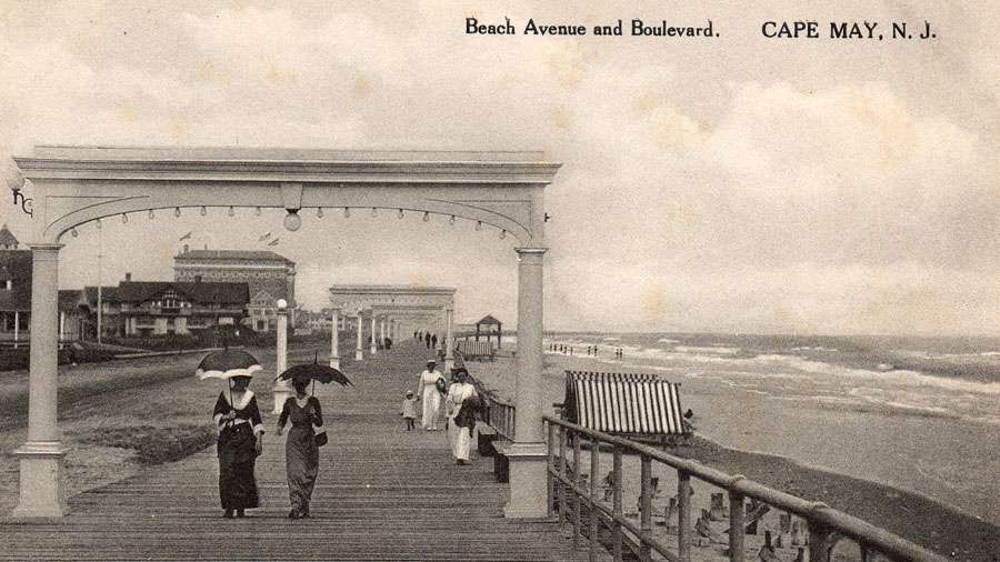 In 1910, the boardwalk extended through the 1100 block of Beach Avenue. (Richard Gibbs Collection)