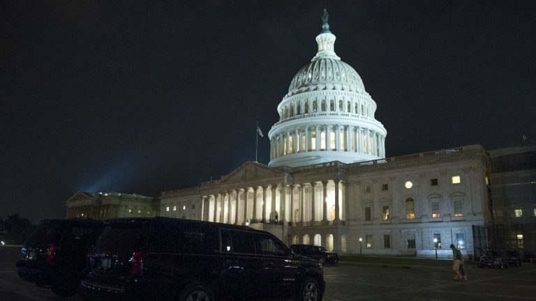 The Capitol stayed open late Thursday night into Friday morning as the Republican majority in Congress was stymied in their effort to repeal and replace