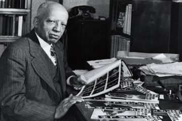 Dr. Carter G. Woodson, circa 1940.  Called the father of Black History Month, in  1926 Woodson lobbied schools to institute