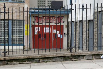 Five educators connected to Cayuga Elementary School in Philadelphia's Hunting Park neighborhood have been charged in connection with standardized test cheating. (Emma Lee/for NewsWorks)